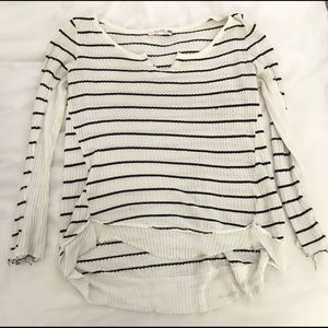 Sweaters - Striped pullover top